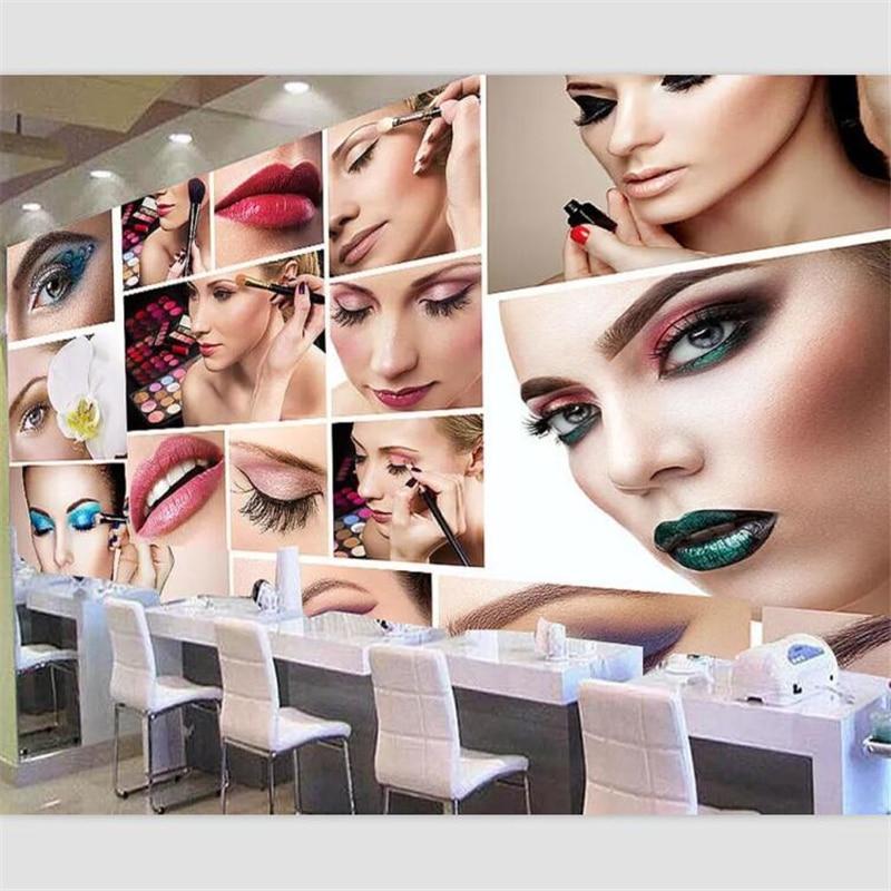 Beibehang Wallpaper Custom Hd Wallpaper Mural Makeup Background Wall Beauty Makeup Exhibition Board Makeup Shop Image Wall Wallpaper 3d Wall Wallpaperwallpaper Mural Aliexpress