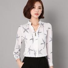 Fashion Long Sleeve Women Korean Type All-match Chiffon Blouses Shirts