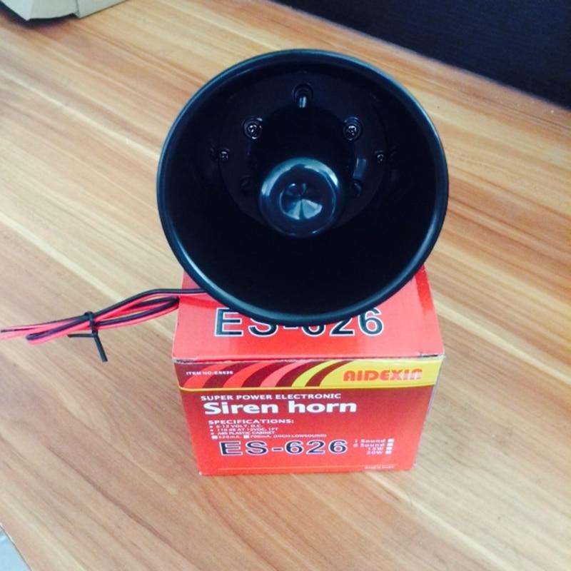 2PC ES626 Loud Horn Outdoor Security Alarm Siren 12V Speaker 120db loud security alarm siren horn speaker buzzer black red dc 6 16v page 2