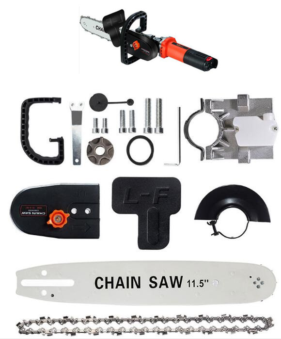 DIY Electric Saw Chain Chainsaw Stand Bracket Set Wood Cut For 100 / 115 125 Angle Grinder diy electric saw chain chainsaw stand bracket set wood cut for 100 115 125 angle grinder