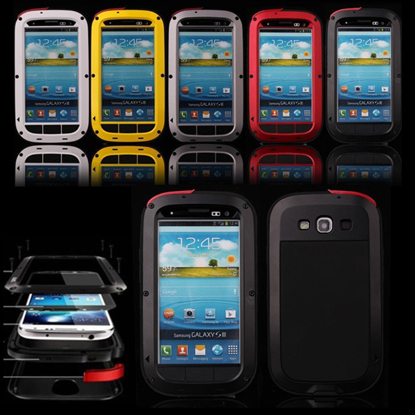 Luxury Dirt proof Shockproof Waterproof Case For Samsung Galaxy S3 S4 S5 Heavy Duty Armor Aluminum