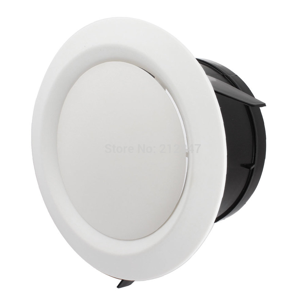 Adjustable Disc Type Round Air Vent Grille Outlet Ventilation Cover Flange For 125mm Ducting