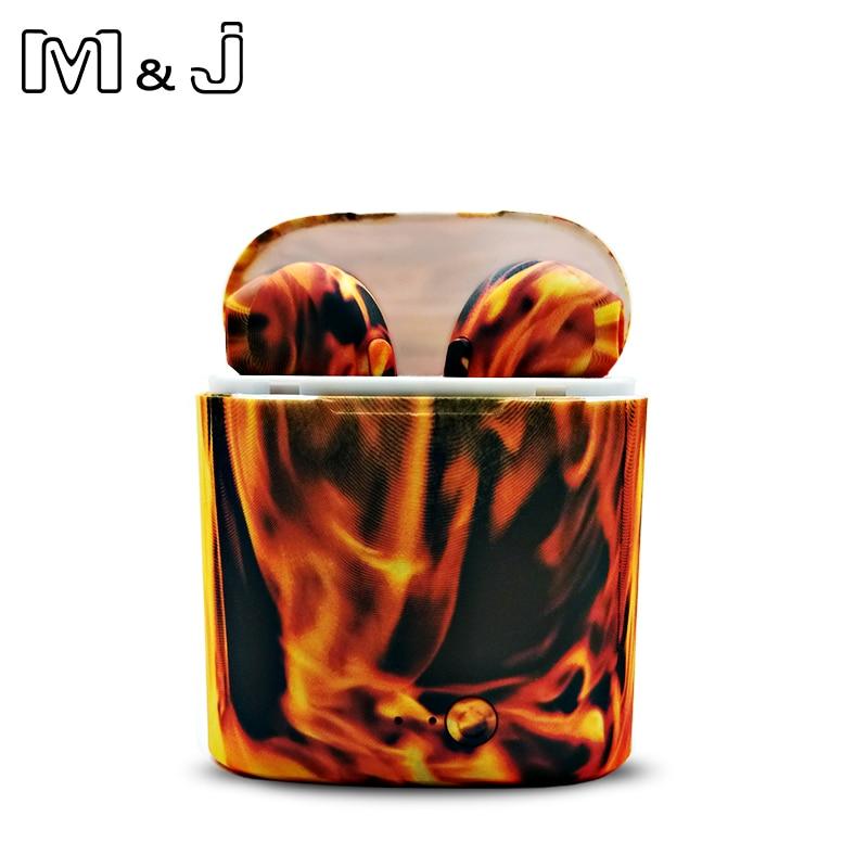 M&J I7S TWS Camo Earbuds Wireless Bluetooth Double Earphones All Bluetooth Mobile 15
