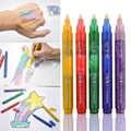 Pluma fluorescente marcador de brillo de Color Sipa 5 piezas para tarjetas de bricolaje para niños, pintura corporal, diseño de ilustración, cualquier nave dibujo
