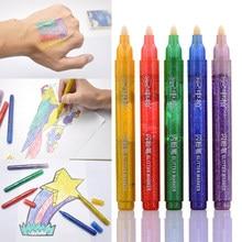 Sipa 5 PCS Farbe Glitter Marker Leuchtstoff Stift für DIY Kinder Karte Hergestellt, Körper Malen, Illustration Design, jede Handwerk Zeichnung