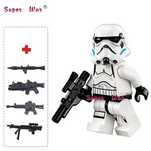 one piece star wars superhero Stormtrooper Storm trooper building blocks action sets model bricks toys for children(China)