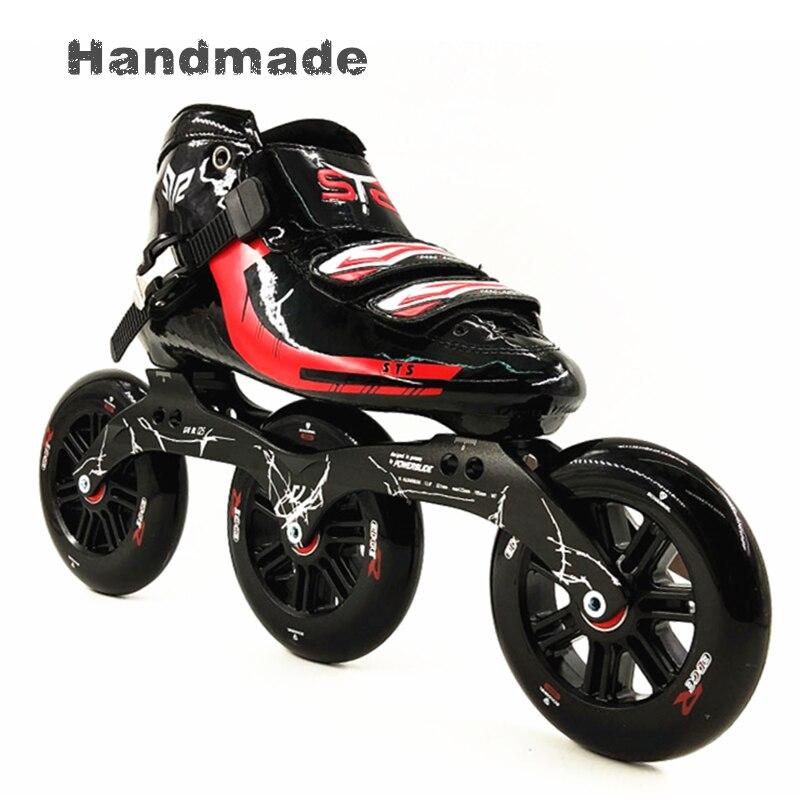 Профессиональные 3 125 мм колеса гонки inline скорость роликовые коньки для женщин/мужчин Встроенные роликовые коньки для взрослых новые спорти