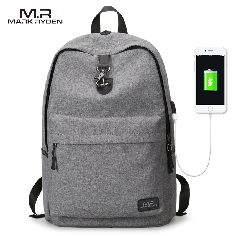 Mark Ryden New Arrivals Four Colors Usb Design Backpack Men Male Student Backpack Weekend Mochila