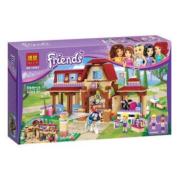 Gao Kaki Teman Heartlake Riding Club Kandang Kuda Blok Set Mia Stephanie Blok Bangunan Mainan Kompatibel dengan 41126