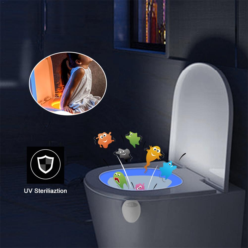 New USB Rechargeable UV Germicidal Toilet Light Motion Sensor Bowl Bathroom WC Nightlight Children Toilet Seat LightingNew USB Rechargeable UV Germicidal Toilet Light Motion Sensor Bowl Bathroom WC Nightlight Children Toilet Seat Lighting