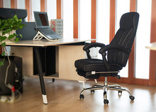 office house chair boss company rotation stool black grey color free shipping