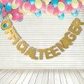 Золотистыми блестками официальная подростков баннер гирлянда подвесной светильник для 13th День Рождения декоративные аксессуары для вечер...