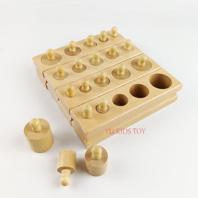 Materiales Montessori Juguetes Educativos Juegos Cilindro Hembra
