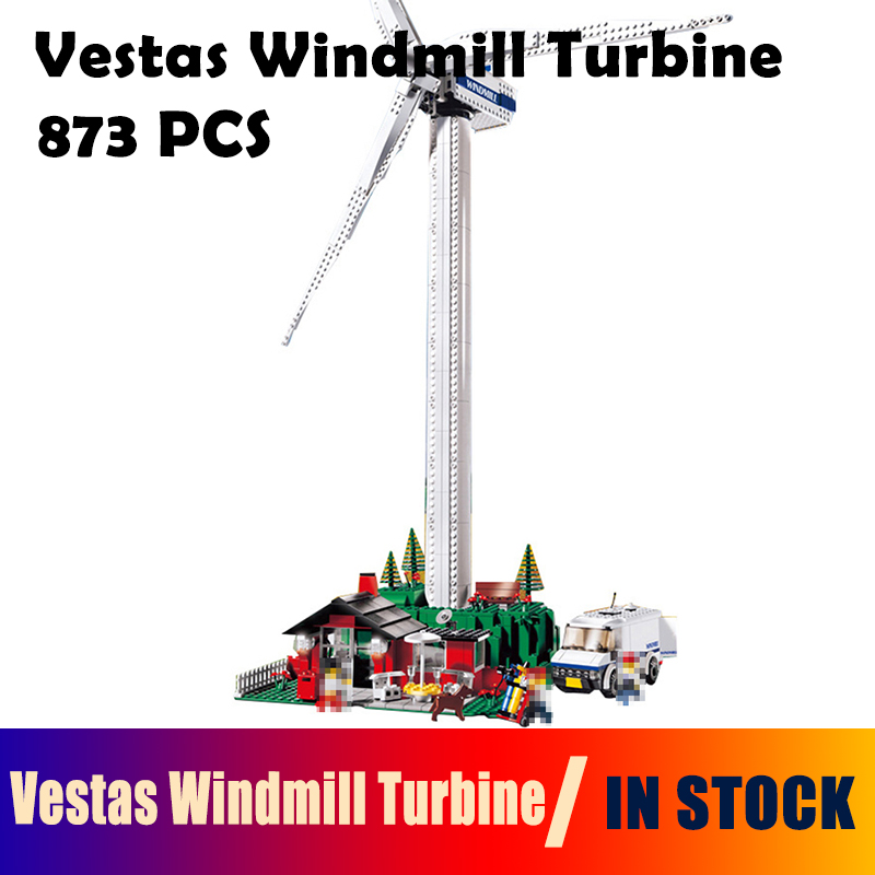 building blocks Compatible with Lego Technic 4999 model 37001 873pcs Creative Vestas Windmill Turbine bricks toys for children