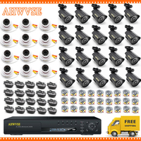 AHWVSE 32 Channel Video Surveillance cctv system 32ch ahd dvr kits with 32pcs outdoor Indoor ahd camera 2mp