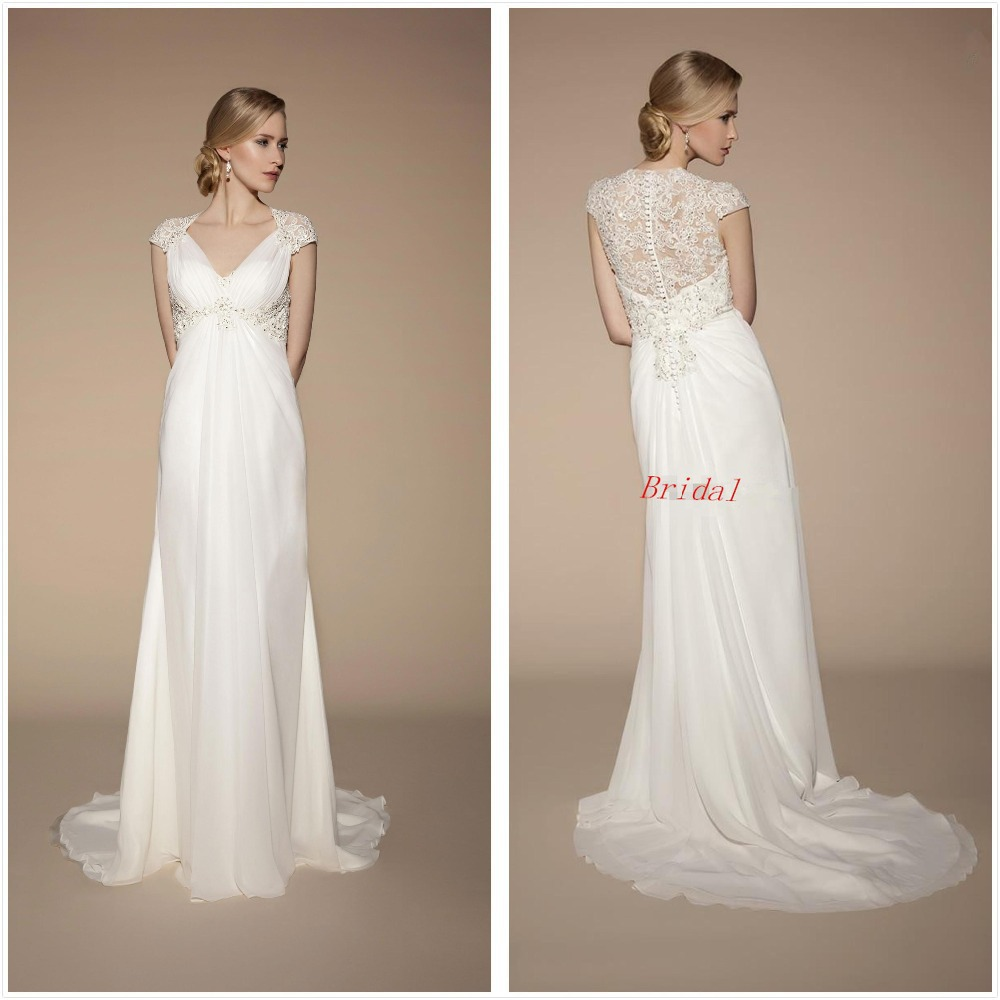 2017 short cap sleeve lace chiffon beach ivory chiffon maternity 2017 short cap sleeve lace chiffon beach ivory chiffon maternity wedding beading dresses wedding gowns bridal dress in wedding dresses from weddings ombrellifo Image collections