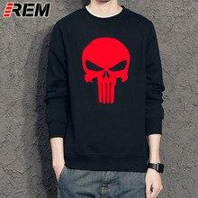 Punisher Skull O-neck Full Sleeve Cotton Casual Fashion Sweatshirt Hoodie