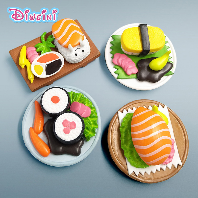 Diy Miniature Food Sushi  Miniature Figurine Pretend Play Kitchen Resin Toy Doll House DIY Accessories Gift Baby Gift