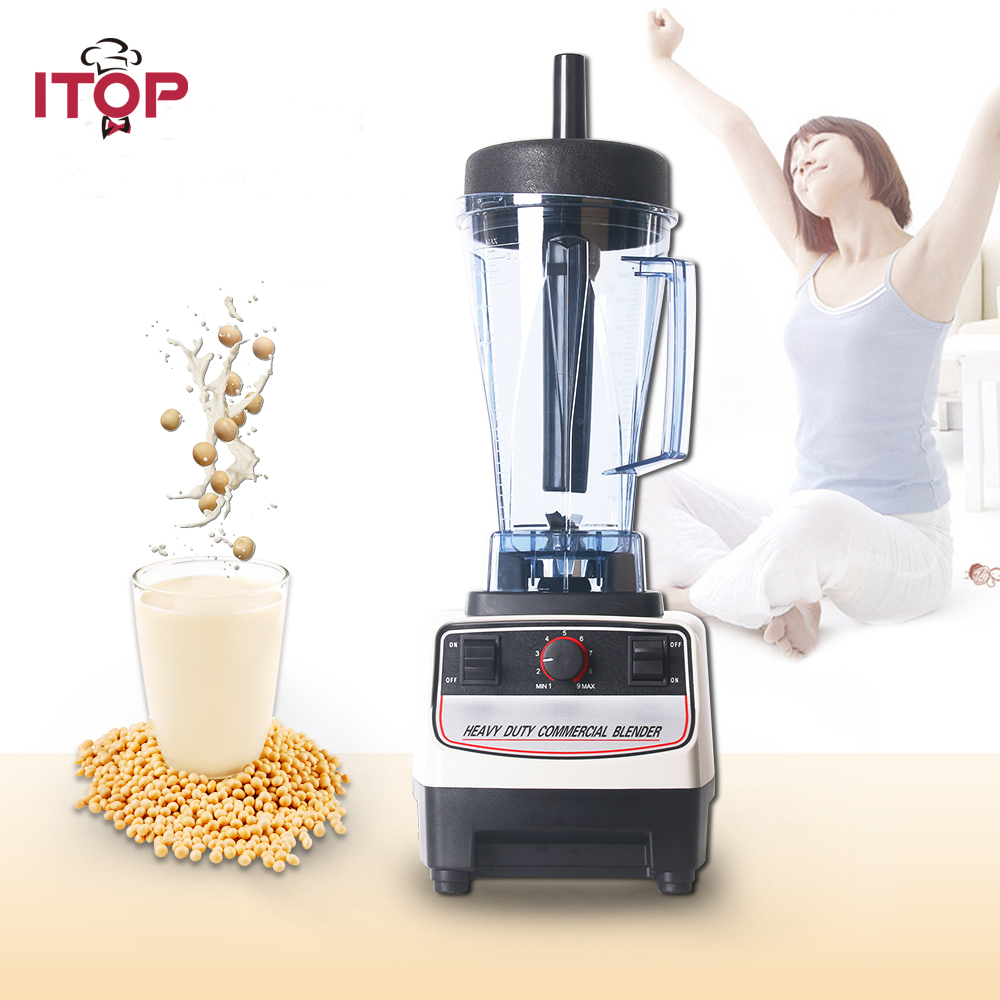 ITOP Commercial 1500W Blender Fruit Vegetable Mixers Cutters Juice Extractor Juicers Kitchen Food Processors Japan Motor цена и фото