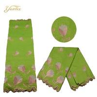 YANTEX Wholesale African Lace Fabric bazin Riche Fabric 5 Yards Handmade Lace bazin Riche Getzner Guinea Brocade For Women Dress