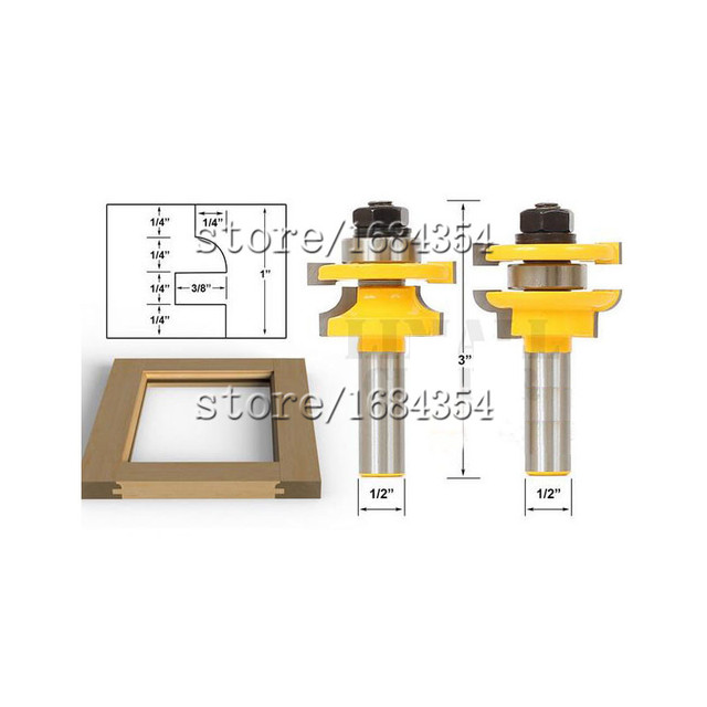 2017 Real Promotion 2piece Concave Stile And Rail Bits Nail Tenon Joints Door Knife Kitchen Cabinet  sc 1 st  AliExpress.com & Aliexpress.com : Buy 2017 Real Promotion 2piece Concave Stile And ...