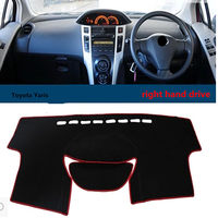 Taijs Factory Top Quality Car Dashboard Cover Right Hand Drive Sunshade Pad For Toyota Yaris For