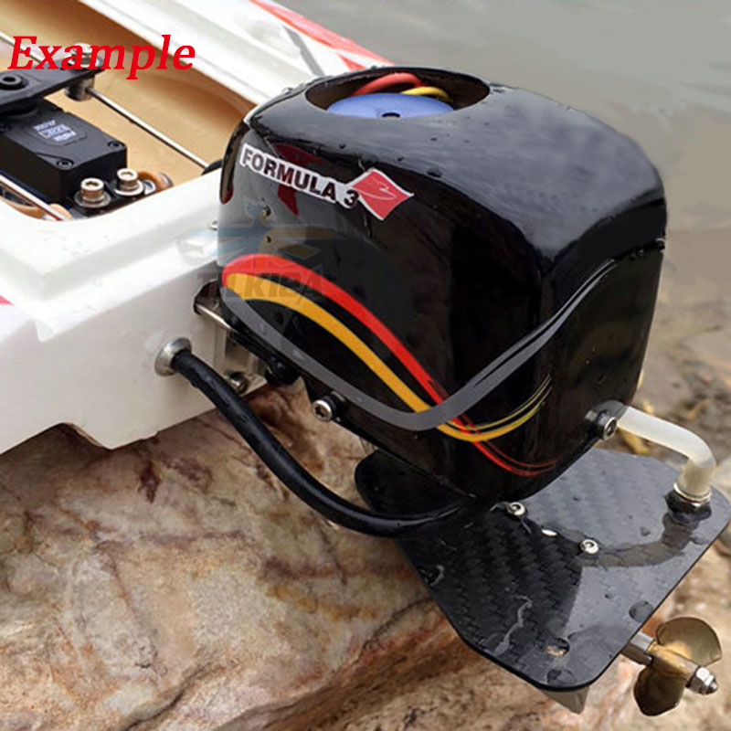 """Image 4 - CNC Rc Boat Tail Power Head Outboard Brushless Motor Prop Watercool Mount Steering Function For Electric Boat Length 24"""" to 30""""Parts & Accessories   -"""