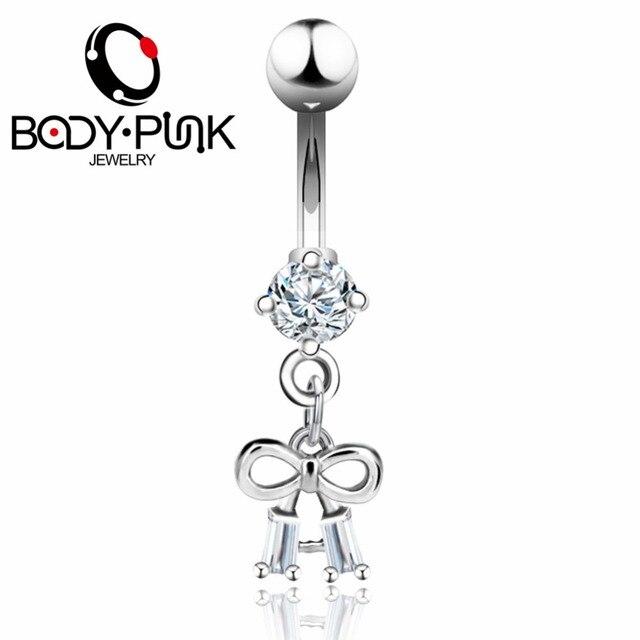 Кольцо пуговица для пирсинга тела в виде банта