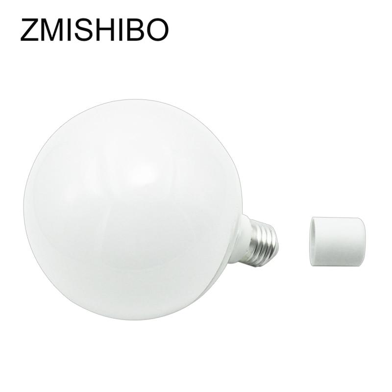 Купить с кэшбэком ZMISHIBO Super Bright G120 LED Global Bulb E27 220V 20W White Body Plastic Aluminium For Ceiling Lamp Pendant Lights No Flicker
