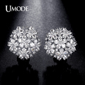 UMODE 4.5mmX3mm Pear Cut Cluster Cubic Zirconia Rhodium Plated French Clip Stud Earrings Jewelry for Women Brincos UE0188B