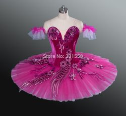 Free shipping 2015 new arrival rose red ballet tutu with velvet bodice classical professional ballet tutu.jpg 250x250