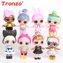 Tronzo 8Pcs/Bag Kawaii Boneca Collectable Action Figure 8-9cm Dolls Dress Toys For Baby Girls Easter/Birthday Gift Dropshipping