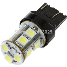 1 pièces Grande Promotion T20 W21/5 W 7443 13 SMD 5050 LED Blanc Pur Voiture Auto Source Lumineuse Frein Stationnement Lampe Ampoule DC12V(China)
