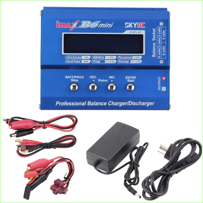 все цены на 1pcs SKYRC Original Imax B6 Mini Professional Battery Balance Charger +12V 6A Adapter For RC Helicopter Drone Charging