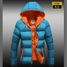 2017 Parka Men Autumn and winter new thickening jackers men cotton hats hooded Zipper winter jackers mens winter parkas