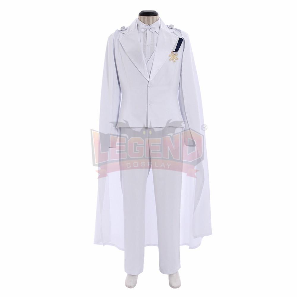 Sailor Moon Tuxedo Mask Chiba Mamoru Cosplay Costume white wedding suits custom made