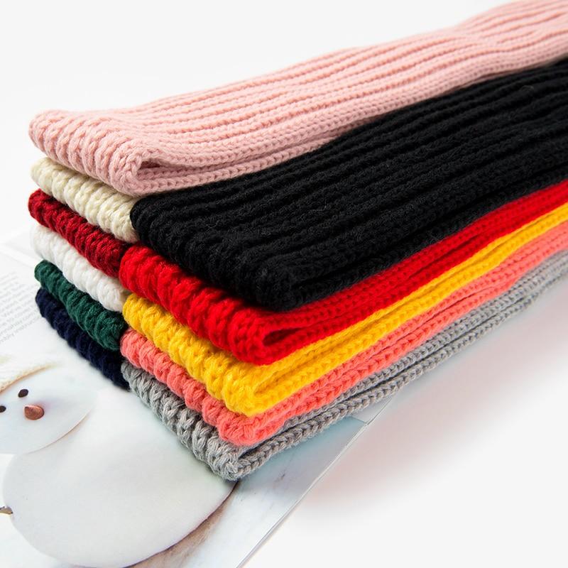 Fashion Boys Girls Winter Scarf Kids Pompom Baby Scarf Warm Neck Warmer Scarves Knitting Wool Foulard Apparel Accessories Girl's Accessories