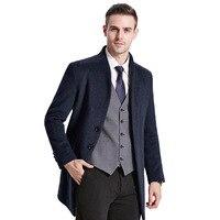 높은 품질 영국 스타일의 남성 코트 신사 모직 코트 따뜻한