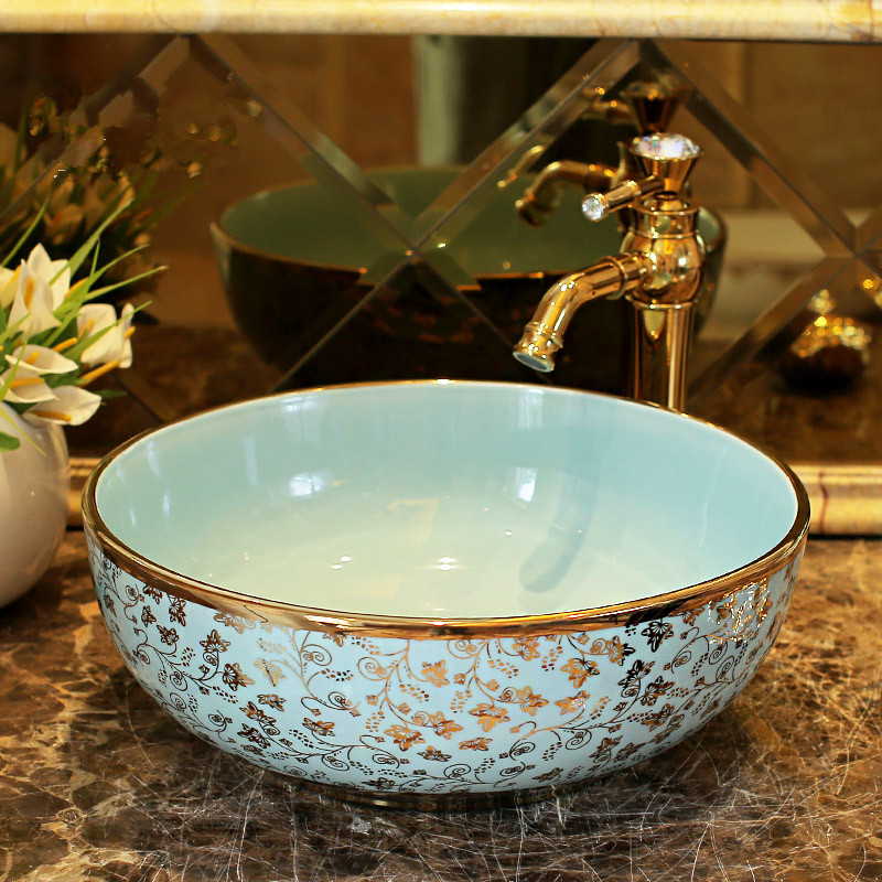 Bathroom Sinks Bowls compare prices on bathroom sink bowls golden- online shopping/buy