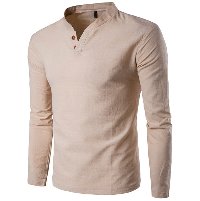 ed707efc40b8 2017 New Summer Long Sleeve Shirt Men Three Color Cotton Men Shirt long  sleeve T-
