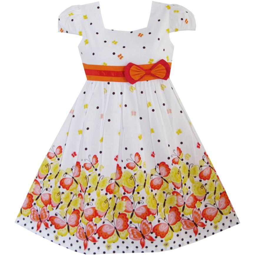 Sunny Fashion Girls Dress Butterfly Dot School Uniform Children Clothes Cotton 2018 Summer Princess Size 12M-10 sexy princess dress uniform red yellow blue free size
