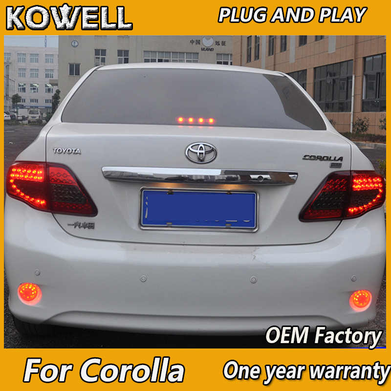 Kowell Auto Styling Voor Toyota Corolla Achterlichten 2007-2010 Corolla Led-achterlicht Altis Led Achterlicht Drl + Rem + Park + Signaal