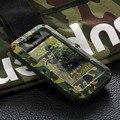 Extrema militar heavy duty à prova de choque de metal temperado caso tampa de vidro para iphone 5s aluminum case para iphone 5 5c à prova d' água