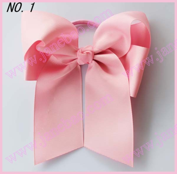 free shipping 30pcs NEWEST fashion 5 * 6'' Cheer leading Hair Bow solid ribbon hair bows girl hair bow holders
