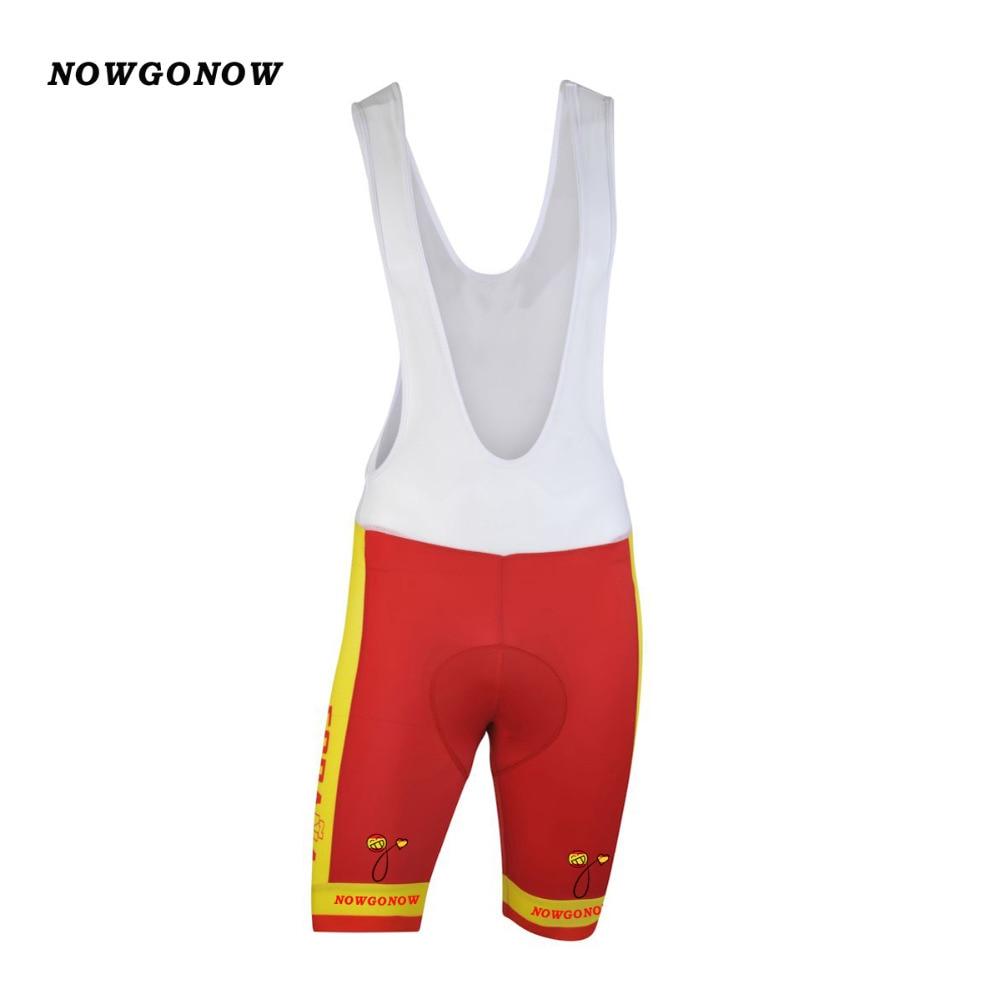 2018 spagna squadra nazionale jersey di riciclaggio set bici abbigliamento  usura giallo rosso squadra nazionale maglia ciclismo bib gel pad shorts in  2018 ... 98778a5fed8