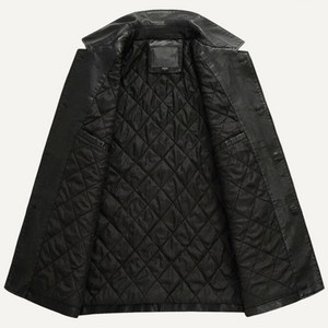 Image 3 - Uomini Giacca di pelle Morbida PU Giacca di Pelle Maschile Business casual Cappotti Uomo Jaqueta Masculinas Couro Inverno Large size XXXL 4XL