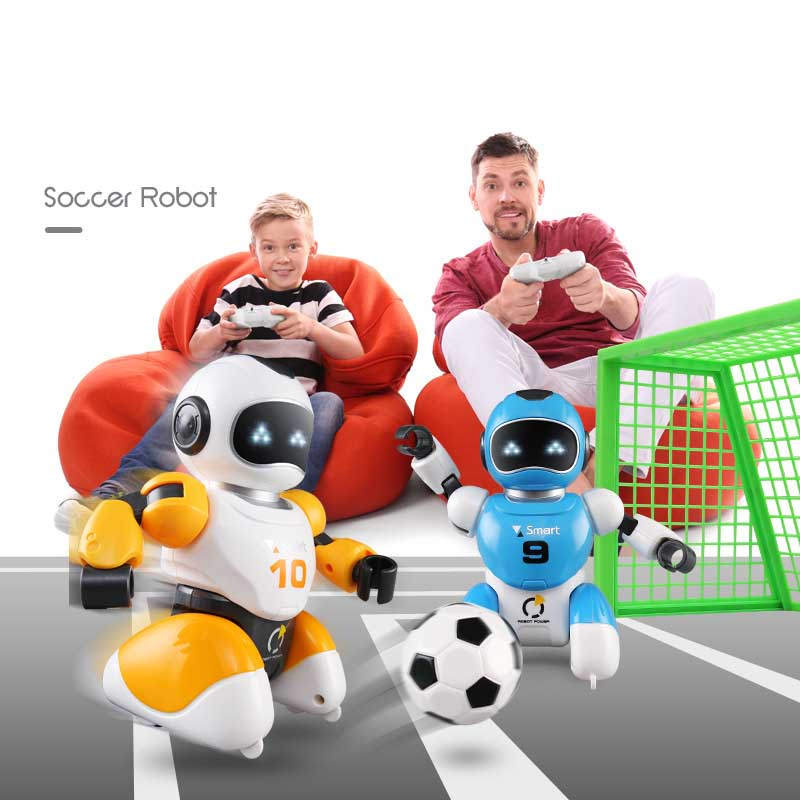 RC Robot Kawaii Cartoon Smart Play Soccer Robot Remote Control Electric Singing Dancing Football VS Robot Toys