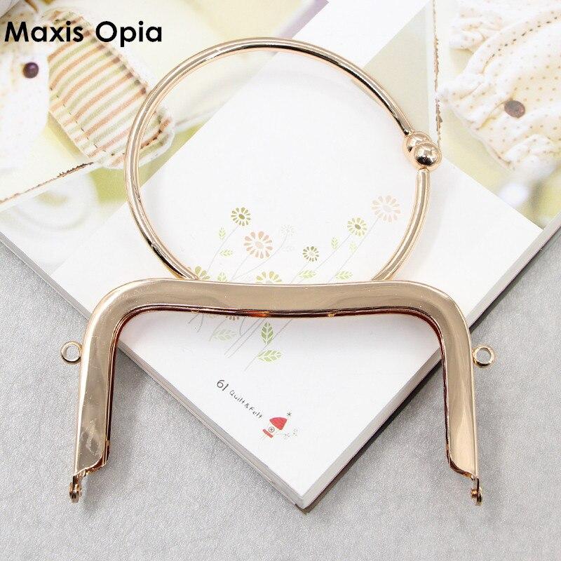 Fashion Metal Clutch Purse Frame Anses Pour Sac Metal Oabg Classic Sewing Purse Frame Purse Obag Handle DIY Handbag Accessories