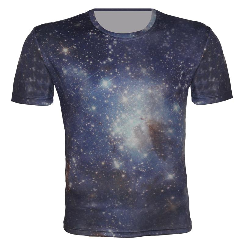 Joyonly Blue Galaxy Space 3D Printed Boys/Girl 2018 Summer T shirts Children Short Sleeve Harajuku Tshirts O neck Cool Tees Tops