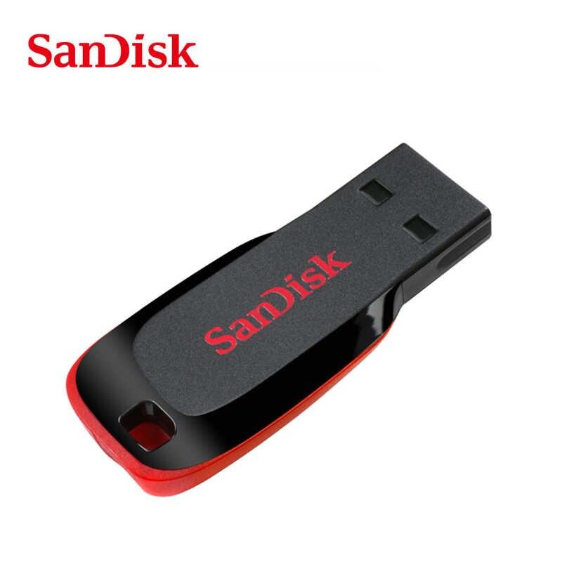 سانديسك USB 2.0 القلم محرك 32 جيجابايت CZ50 محرك فلاش usb 16 جيجابايت 8 جيجابايت ميموريا usb بندريف ذاكرة عصا تخزين فلاش القرص cle USB